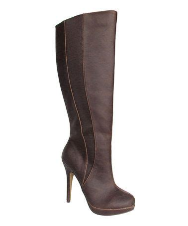 This Brown Hadiya Wide-Calf Boot by Michael Antonio is ...
