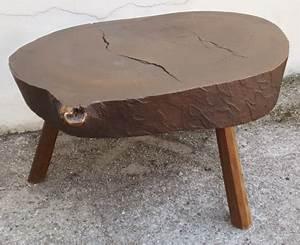 Table Basse Tronc : table basse tronc d 39 arbre tree trunk vintage et 3 tabourets les vieilles choses ~ Teatrodelosmanantiales.com Idées de Décoration