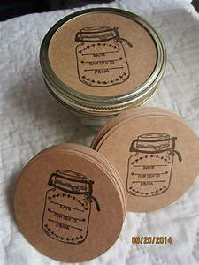 wide mouth mason jar stickers canning jar labels circle kraft With canning jar sticker labels