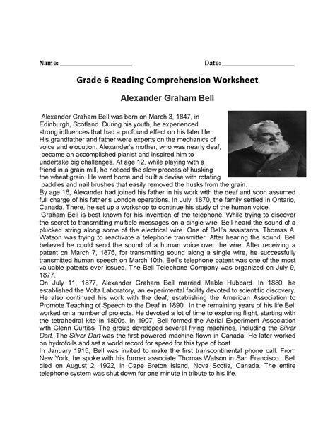 reading worksheets sixth grade reading worksheets db