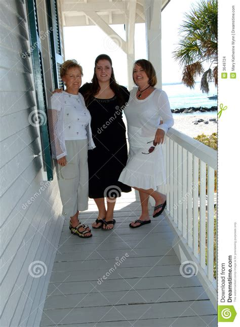 generations  women  porch stock images image