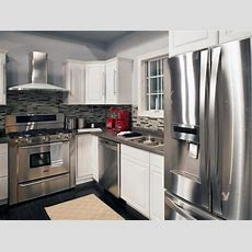 Appliances Cool Gray Kitchen With Stainless Steel