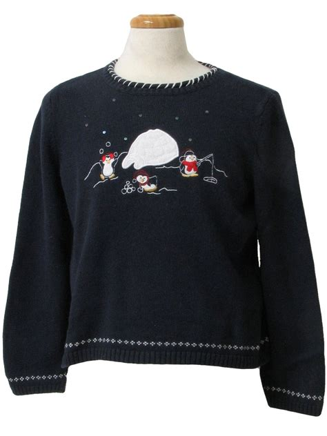 penguin sweater womens sweater christopher
