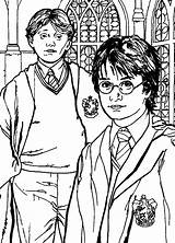 Potter Harry Chamber Secrets Coloring Pages Fun sketch template