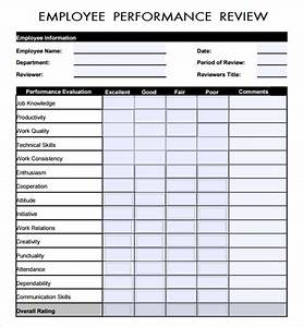 7 employee review templates sample templates for Performance review template doc