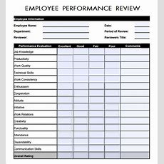 Sample Employee Review Template  7+ Free Documents
