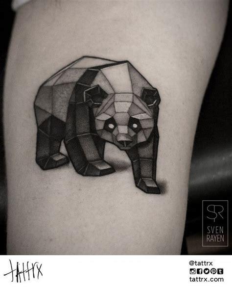 Tatouage Ours Panda Géométrique Plus  Tattoo Pinterest