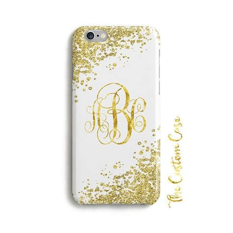 gold glitter monogram phone case  initials   thecustomcase phone cases phone monogram
