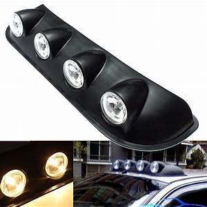 Hot v w amber car roof marker top light bar fog lamp
