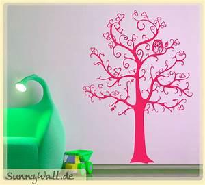 Wandtattoo Baum Kinder : wandtattoo baum mit herzen und eule f r kinderzimmer ~ Whattoseeinmadrid.com Haus und Dekorationen