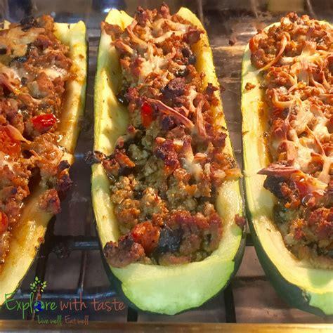 Garden Stuffed Zucchini Boats Taste Of Home by Stuffed Zucchini Boats Ground Turkey Onions Carrots