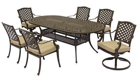 patio furniture aluminum somerset 7pc dining set