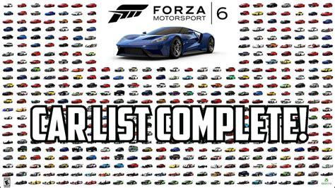 forza motorsport 6 garage car list complete amg gts