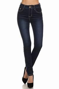 Dark Blue Skinny Jeans For Women | Bbg Clothing