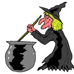 Witch and Cauldron Clip Art