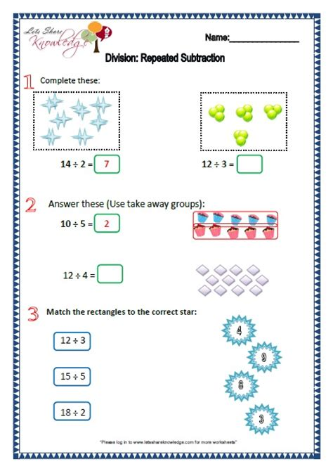 worksheets division as repeated subtraction number names worksheets 187 division as worksheets free printable worksheets for pre