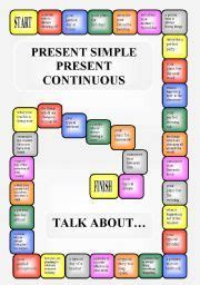 english worksheet boardgame present simple  present