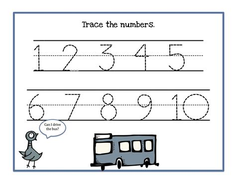 tracing numbers 1 10 kiddo shelter