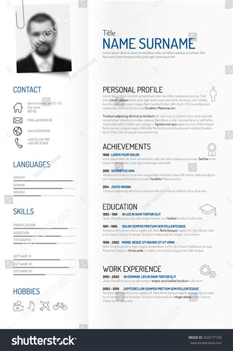 Html Version Of My Resume by Vector Original Minimalist Cv Resume Template Creative