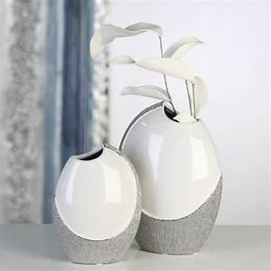 Moderne Vasen Von Designer : casablanca deko vase prime 25 cm weiss silber ~ Bigdaddyawards.com Haus und Dekorationen