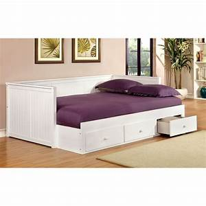 Flawless White Daybed With Storage And Shelves For Purple