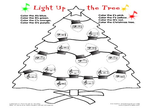 light   tree worksheet    grade lesson