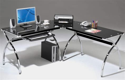 z line belaire glass l shaped computer desk more comfortable with glass computer desk the decoras