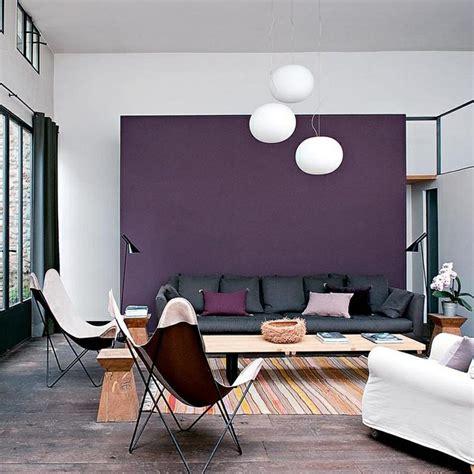 chaise couleur taupe blanc bois gris violet maison idées déco salon