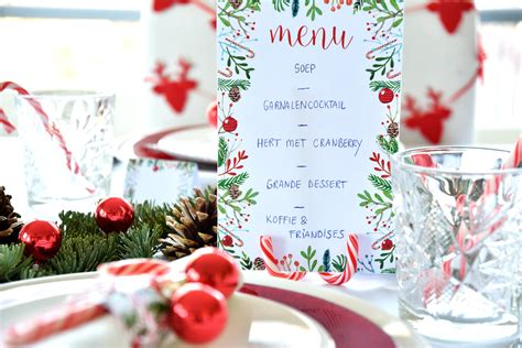 Kerstmenukaart maken