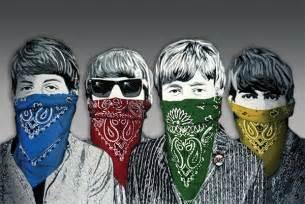 banksy street art beatles fab bandanas poster sold europosters