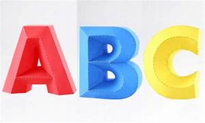 papercraftsquarecom new paper craft 3d alphabet series With papercraft letters