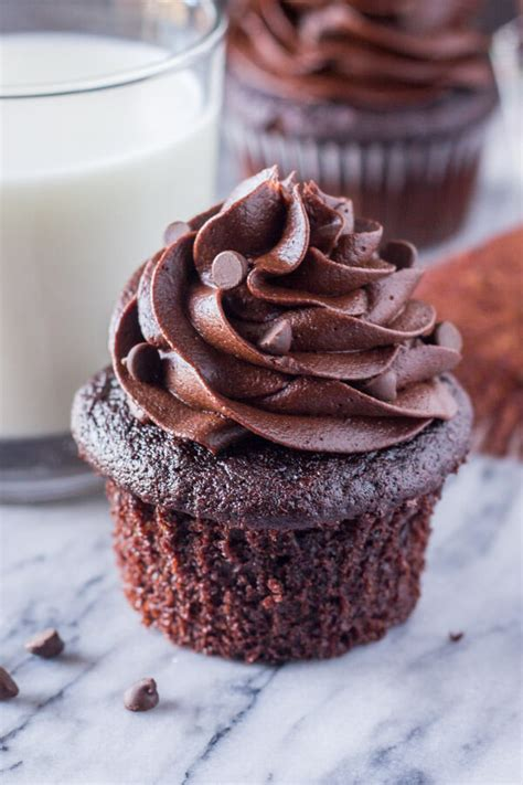 ultimate double chocolate cupcakes   tasty
