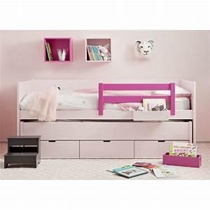 Lit Design Enfant : lit 2 en un avec tiroir de rangement bahia movil par asoral ~ Teatrodelosmanantiales.com Idées de Décoration