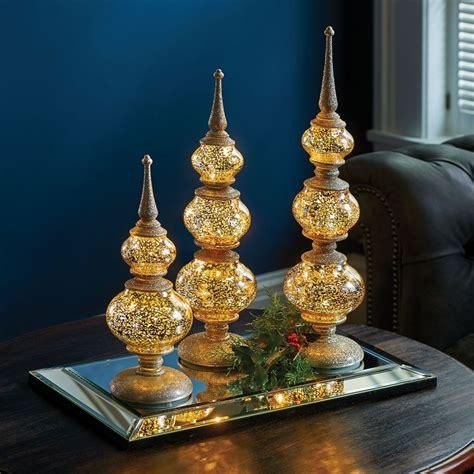 lighted antique finials set   christmas pinterest