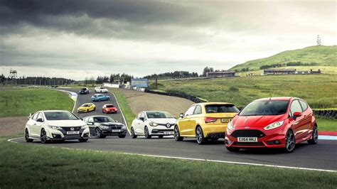 hot hatch shootout  contenders    track