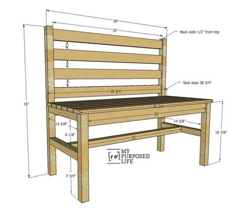 wooden slat bench plans rustic bench    repurposed life