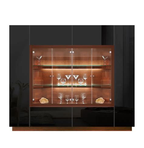 Jamison Display Cabinet   Modern Glass Curio, Concealed