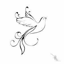 Holy Spirit dove outline tattoo design | Love it | Pinterest
