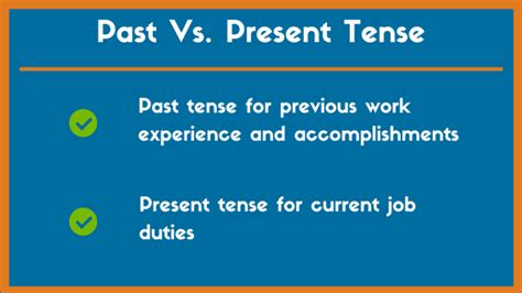 a resume should points about a current be written in present tense quora