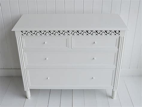 New England White Chest Of Drawers. Bedroom, Hall Or Bathroom Furniture