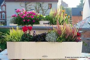 Balkonbepflanzung Im Herbst : garten und balkon raumzauber sinnwelt ~ Markanthonyermac.com Haus und Dekorationen