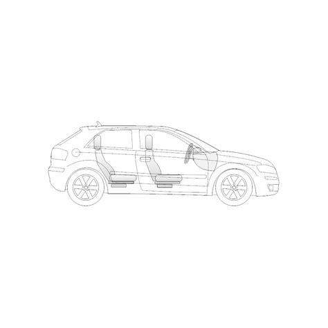 Vehicle Diagram Door Compact Car Side View
