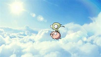 Pig Zim Invader Ride Cartoon Meme Wallpapers