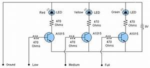 Water Level Indicator Sensor Circuit