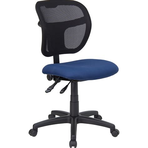 flash mid back mesh task chair with navy blue fabric seat