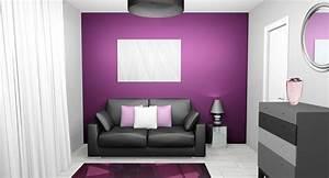 couleur chambre gris et mauve palzoncom With chambre mauve et gris