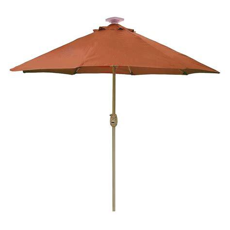 hton bay 9 ft solar lighted auto lift patio umbrella
