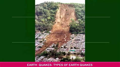 earthquake    earthquake definition types