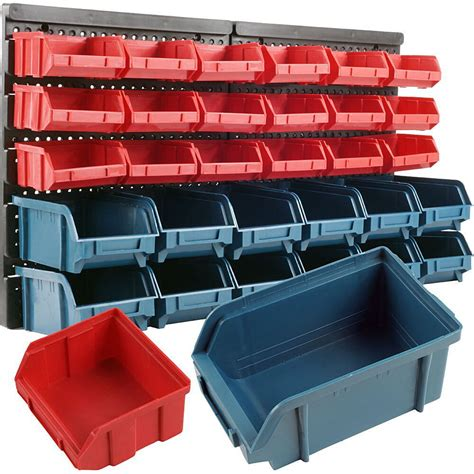 30 Bin Wall Mounted Part Rack Drawer Storage Organizer