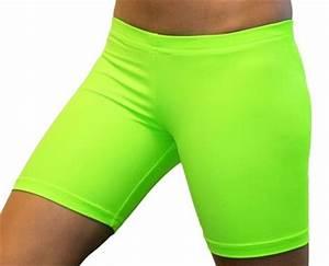 Bright Neon Lime Green 6 inch Inseam Spandex pression